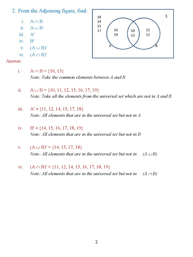 Class 8 Chapter 1 – Venn Diagrams – Exercise 2 Page 2