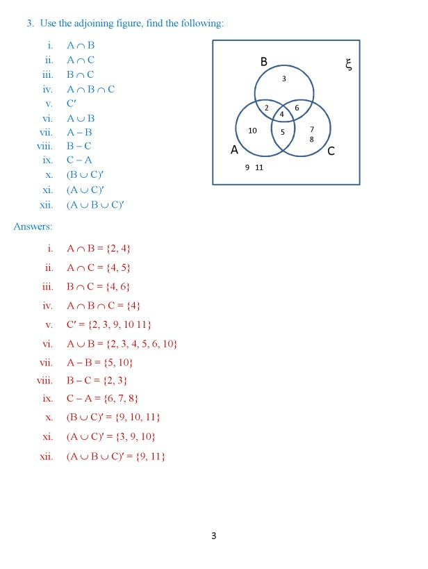 Class 8 Chapter 1 – Venn Diagrams – Exercise 2 Page 3