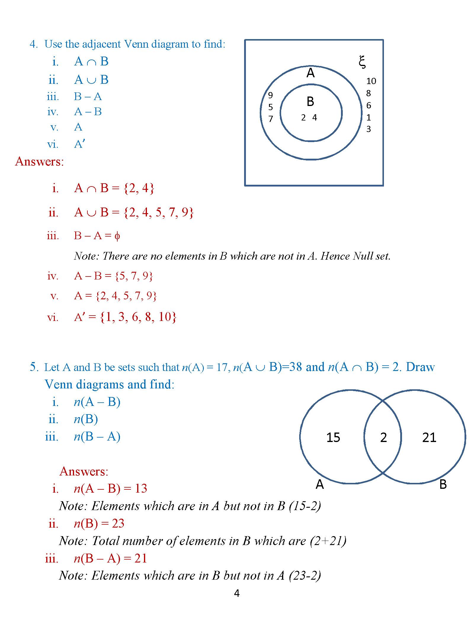 Class 8: Venn Diagrams – Exercise 2 – ICSE Math Portal for K-12 ...