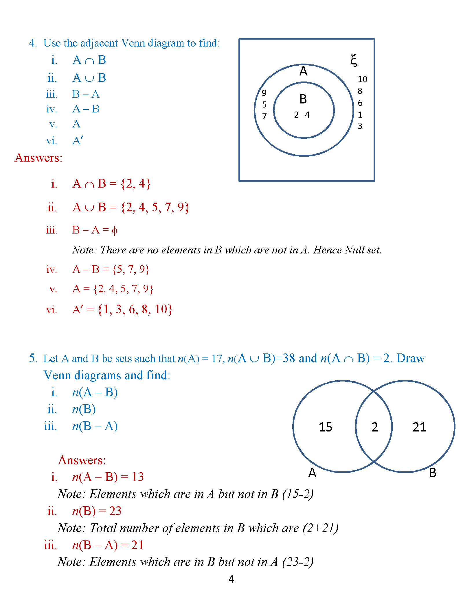 Venn diagram exercises with answers for grade 7 complete wiring class 8 venn diagrams exercise 2 icse isc math portal for k12 rh icsemath com ccuart Choice Image