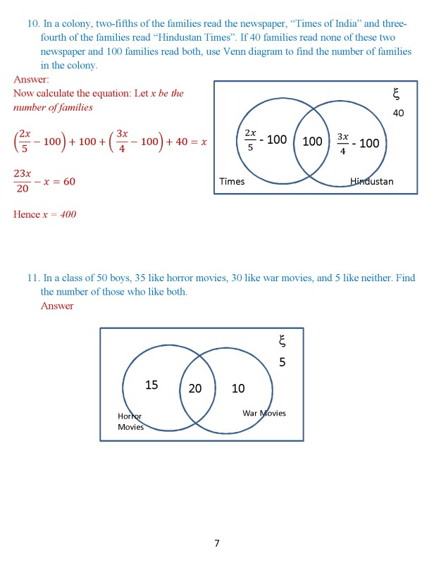 Class 8 Chapter 1 – Venn Diagrams – Exercise 2 Page 7