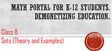 Class 8: Sets (Lecture Notes) – ICSE / ISC / CBSE