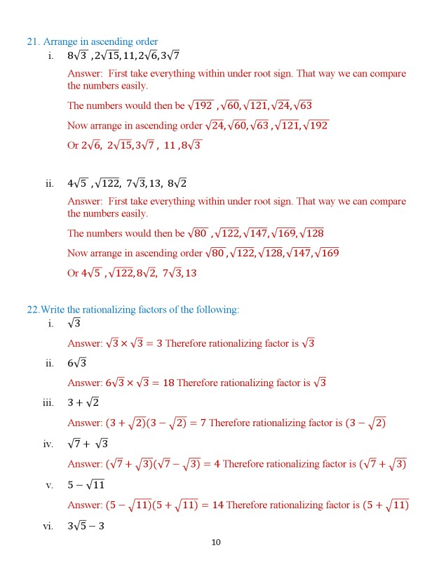 Class 8 Chapter 3 – Numbers – Exercise 3B Page 10