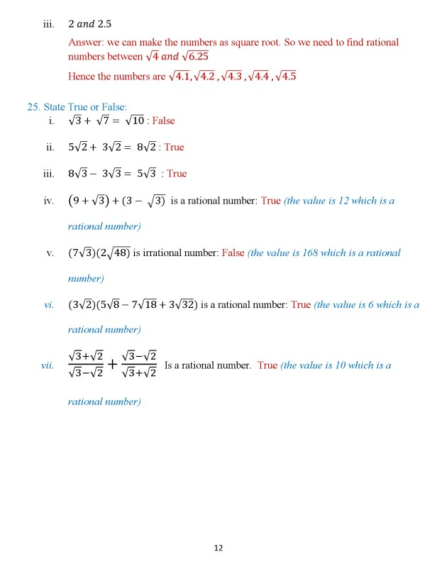 Class 8 Chapter 3 – Numbers – Exercise 3B Page 12