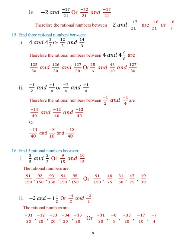 Class 8 Chapter 3 – Numbers – Exercise 3B Page 8