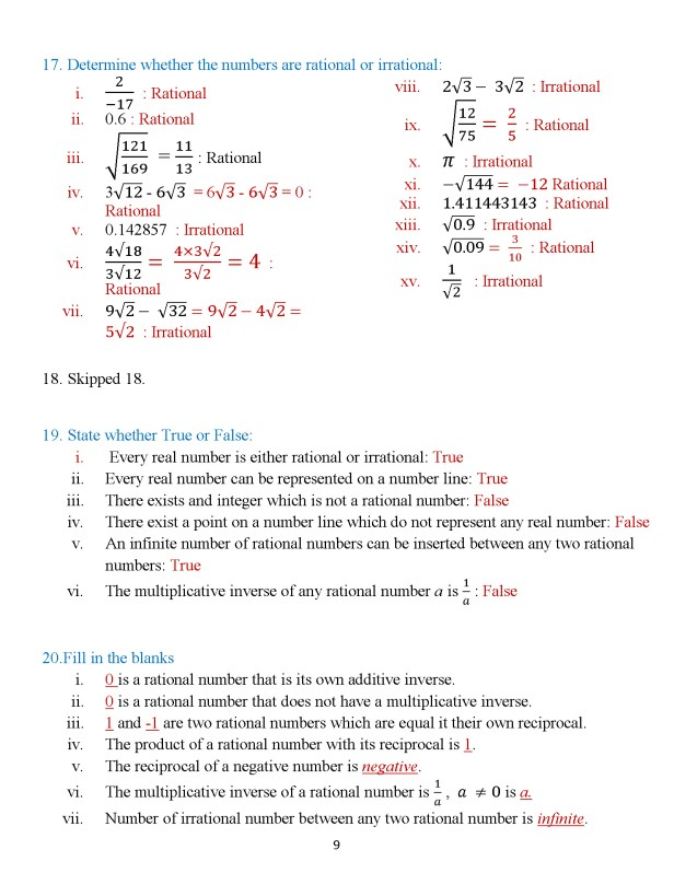 Class 8 Chapter 3 – Numbers – Exercise 3B Page 9
