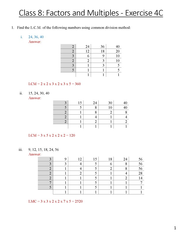 class-8-chapter-4-factors-and-multiples-exercise-4c-page-1