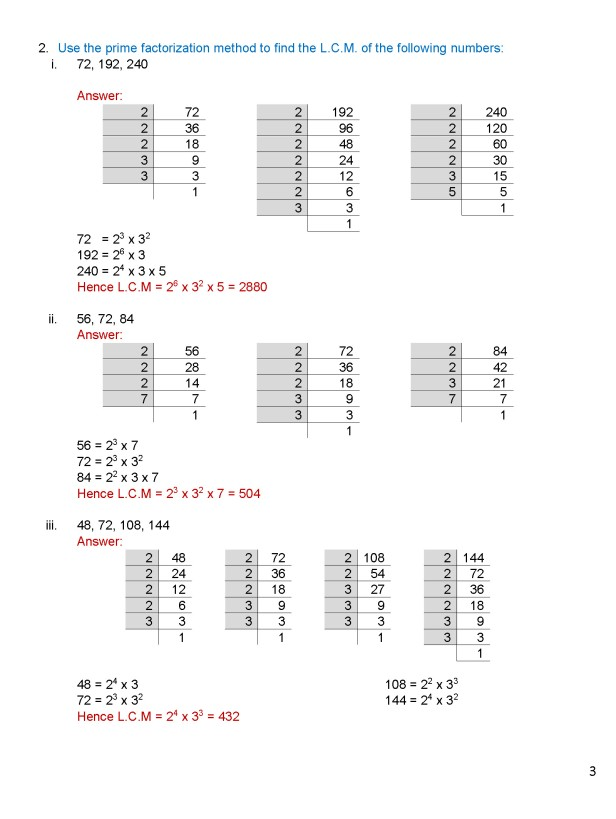 Class 8 – Chapter 4 - Factors and Multiples - Exercise 4C Page 3