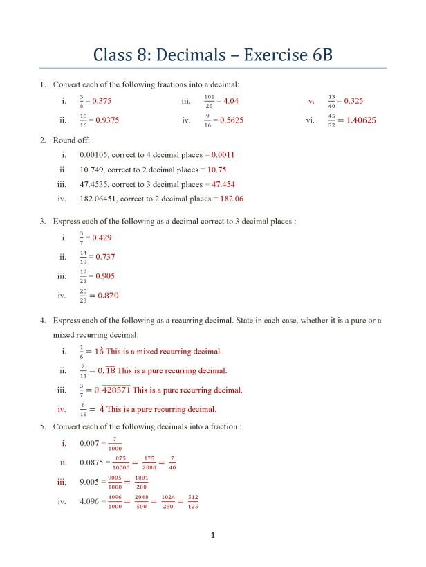 class-8-chapter-6-decimals-exercise-6b-page-1