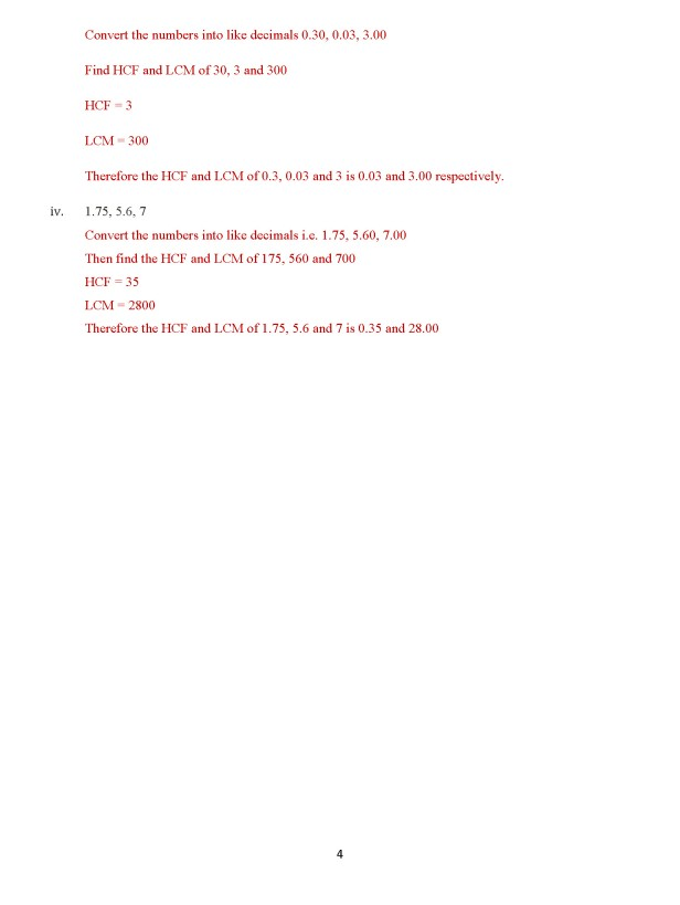 Class 8 Chapter 6 – Decimals – Exercise 6B Page 4