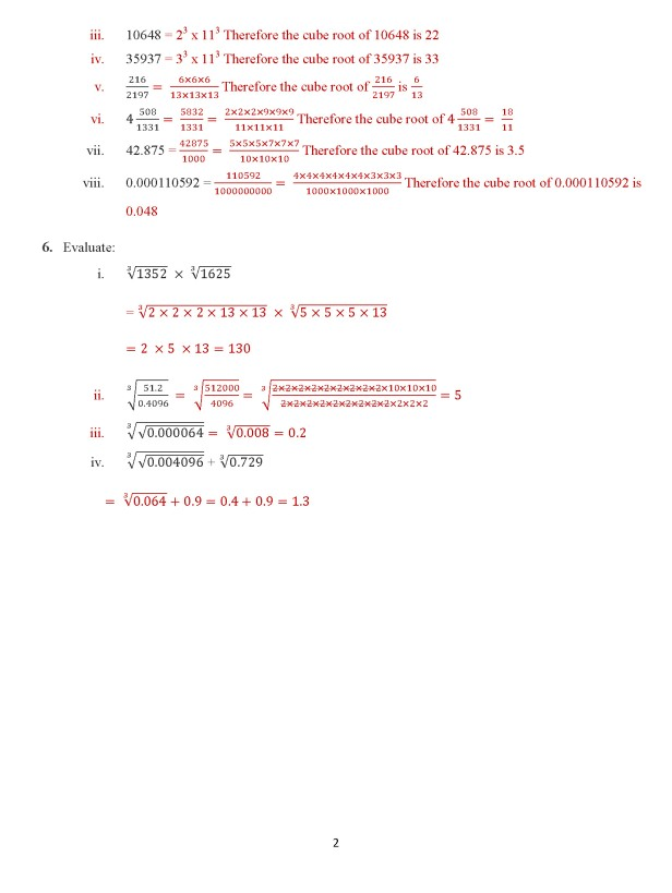 Class 8 Chapter 7 – Cube Roots – Exercise 7 C Page 2