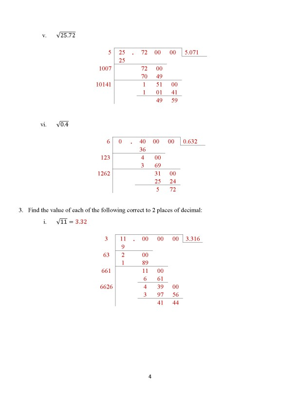 Class 8 Chapter 7 – Square Roots - Exercise 7B Page 4