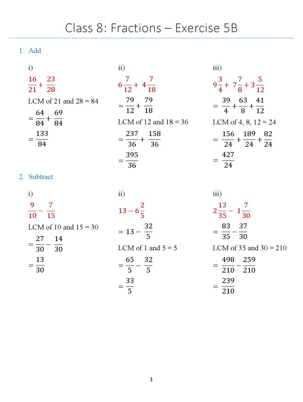 class-8-chapter-fractions-exercise-5b-page-1
