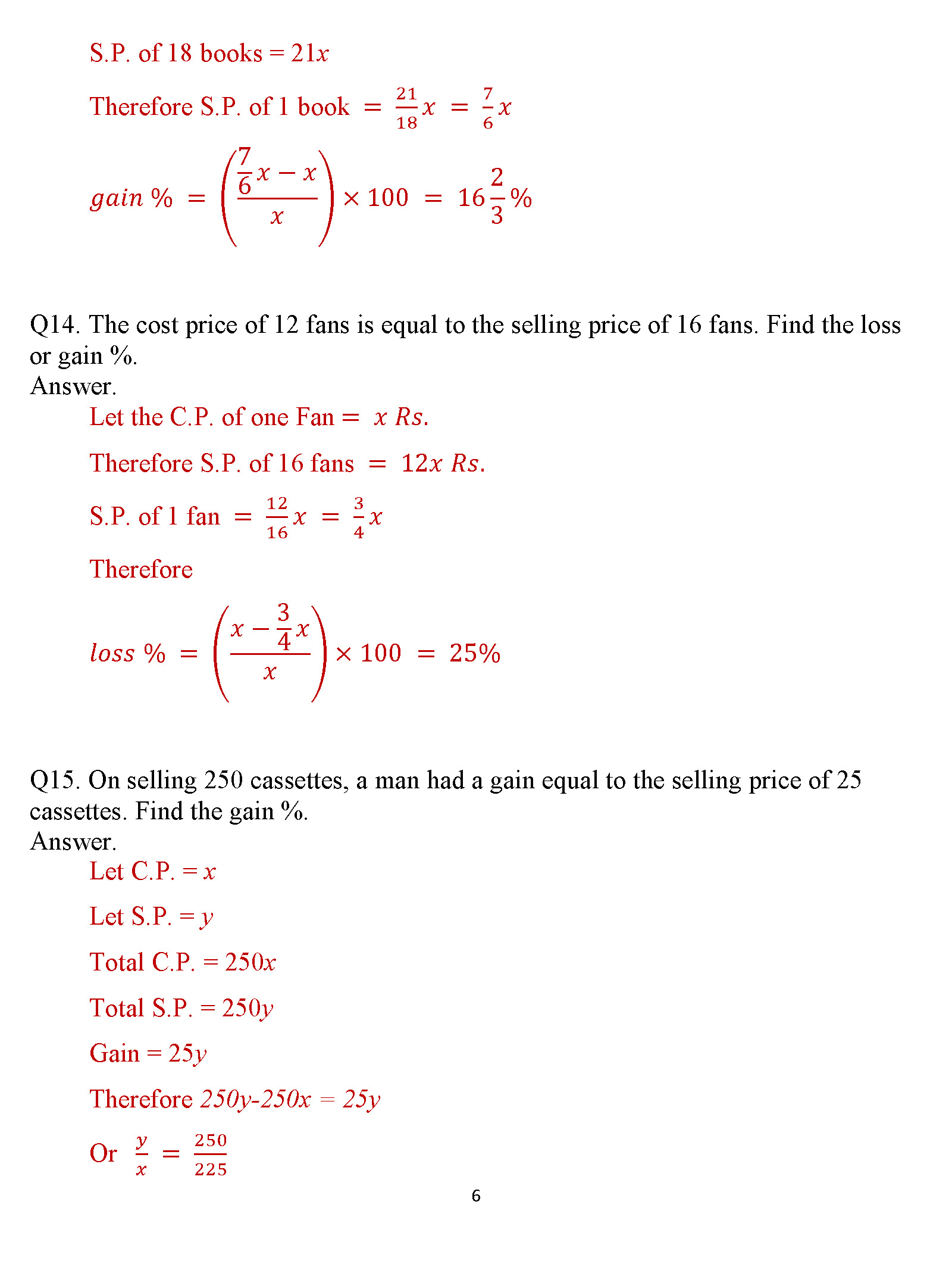 how to prepare a worksheet and calculating profit and loss